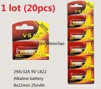 20 قطع 1 وحدة 32a 29a 9 فولت 32A9V 9V32A 29A9V 9V29A L822 البطارية القلوية الجافة 9 فولت بطاريات بطاقة vsai مجانية