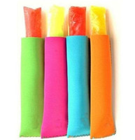 200pcs navires rapides Popsicle titulaires de titulaires de glace Pop crème à manches manches manches enfants congélateur 15x4cm enfants Outils d'été 12 couleurs