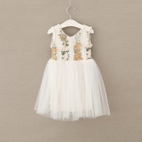 Girls Lace Flower Dresses Kids Clothing 2017 Baby Girl Princ...