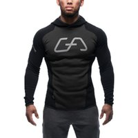 New Mens Bodybuilding Hoodies Gym Workout Shirts Hooded Spor...