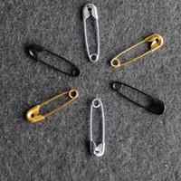 1000 PC drei Farbe silber schwarz gold klein vernickelt Sicherheitsnadeln 4/5 '' Länge (19 mm) Großhandel für Bekleidung Fallumbau