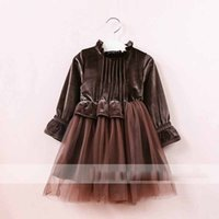Everweekend Girls Ruffles Velvet Tutu Dress Candy Color Swee...