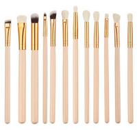 12 pcs / ensemble Rose Or multifonctionnel Maquillage Brosse Set Eyeshadow Eye Brushes Outil également utilisé comme les joues mâchoire menton brosses