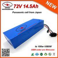 800W 1000W Motor için Gümrük Vergisi Li-Ion 72V Pil Paketi E Bisiklet Pil 72V 14.5Ah Lityum Batarya Paketi NCR18650PF Hücreleri kullanılan