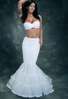 Nouvelle image réelle Mermaid Justicoat Accessoires de mariage Vestido De Noivas Jupe De Mariage Jupestticoats pour robe de mariée.