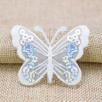 10 PCS Pailletted Butterfly Patch Patch Distintivi per Abbigliamento Iron PATCH ricamato Patch Applique Iron Cucire su Patch Accessori per cucire FAI DA TE