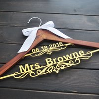 Personalized bride hanger personalized hanger for wedding dr...