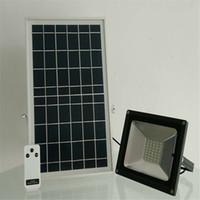 Пульт дистанционного управления холодный белый 50 Вт Солнечный светодиодный прожектор прожектор водонепроницаемый Открытый сад пейзаж уличный квадратный свет