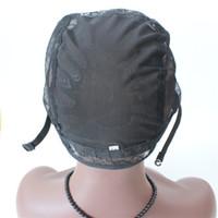 5 pcs / lot perruques chapeau pour faire perruque chapeaux de perruque juive juif net perruque chapeaux pour les femmes noires avec sangle réglable