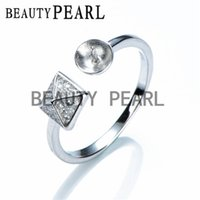 Pyramid Ring Base for DIY Cubic Zircoina Jewelry Pearl Ring ...