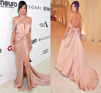 New Stylish Deep V Neck Sexy Red Carpet Evening Dress Draped...