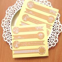 무료 배송 도매 크래프트 종이 파리 타워 시리즈 밀봉 딱딱한 롤리팝 DIY 스티커 선물 스티커 장식 포장