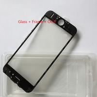 Lentille en verre à écran tactile avec cadre central de presse à froid avec OCA installé pour iPhone 6 6s 6 plus 6s plus