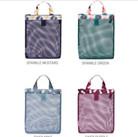100pcs lot 2017 New Arrival Mesh Beach Bag Women Oxford Swim...