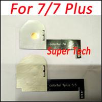 7 في 1 بقيادة متوهجة الفلورسنت متوهجة LED ضوء لفون 7 7plus بقيادة شعار ملموس 7 لون شعار ليلة 7plus 5.5INCH