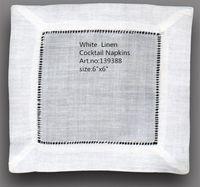 """المنسوجات المنزلية الجدول منديل NewTablemat بالجملة 120 قطعة / الوحدة 6 """"x 6"""" ساحة أنيقة بيضاء الكتان كوكتيل المناديل هو اللباس أي حفل كوكتيل"""