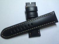 Nouveau bracelet en cuir brun noir pour homme de 24 mm, texture crocodile. Qualité de première classe, meilleur prix, livraison gratuite.