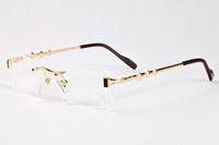Arrefecer Oculos De Sol alta Qaulity Metal Frame Sunglasses Mulheres Marca Designer chifre de búfalo Óculos Driving Eyewear 3 estrelas azul claro marrom