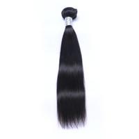 Бразильские девственные человеческие волосы прямые необработанные ременные волосы плетения волос двойные WEFTS 100G / пучок 1Bundle / Lot можно окрашено отбеленным