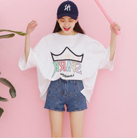 2017 Spring Summer Preppy Style Women' s T- shirt Korea F...