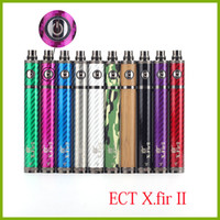 ECT original x.fir II Batterie 1600mah vision spinner II batterie améliorée 3.3V-4.8V pour cigarette électronique 510 thread Vape Pen