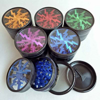 100% Metal Tobacco Smoking Herb Grinders 63mm Aluminium Allo...