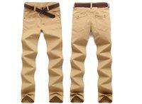 Pantaloni lunghi per il tempo libero degli uomini all'ingrosso di stile di estate del maschio Vita Medio Lavato sottile pantaloni lunghi Plus Size