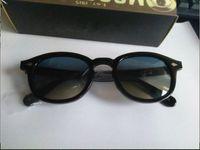 2017 retro vintage johnny solglasögon sköldpadda och svart med blå lins runda solglasögon män kvinnor glasögon ram helt ny mode ram