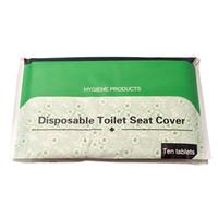 Ecológico Bio-degradable Solubilidad en agua higiénico desechable cubierta de asiento de papel para hoteles y trvel 10sheets / PCS * 30
