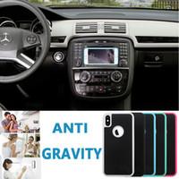 Anti-Yerçekimi Özçekim Büyülü Nano Yapışkan Anti-düşme Adsorpsiyon Hibrid Kapak Kılıf iphone XS Max XR X 8 7 6 Artı Samsung S10 E S9 S8 S7 Not