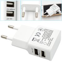 portable 5V 2. 1 1A 2- port Dual USB Wall Charger Travel USB C...
