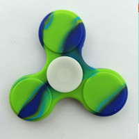 Fidget Spinner Camo Colorful Triangle Silicone Hand Spinners...