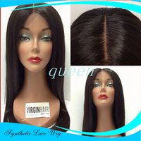 Free Parting Long Lace Front Synthetic Wigs Straight with Na...