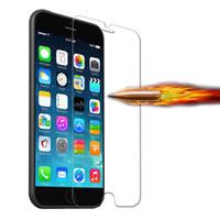 Protector de pantalla de cristal templado superior ultra fino 0.3mm de la nueva llegada para el iPhone 6 Película a prueba de explosiones de 4.7 pulgadas para Iphone 6 20pcs / lot
