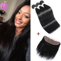 Brazilian Virgin Hair Straight Frontal Lace Closure 13x4 Ear...