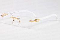 2020 الجديد الشمس قرن الجاموس نظارات النظارات الشمسية الرجعية الأزياء الرياضية للأزياء الرجال إطار بدون إطار نصف وعدسة واضحة تأتي مع الصندوق