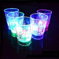 5. 5*5cm 24pcs Lot LED Cup Flashing Shot Plastic glasses Flas...