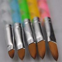 5 قطع جديد الاكريليك 3d اللوحة رسم uv جل diy فرشاة القلم أداة مسمار الفن مجموعة # R476