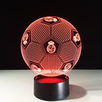2017 Madrid Football 3D Illusion Night Lamp 3D Optical Lamp ...