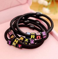 High quality Hairpin letters leather belt hair black hair ro...