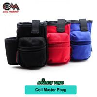 Original Coil Master Pbag Carry P Saco Cavans Protable Saco De Armazenamento para Produtos Vape Kit Mod Atomizador Bobinas Carring 5 Cores para a Opção
