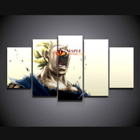 HD Canvas Print 5 Pieces Large Painting Dragon Ball Painting...