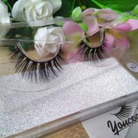 Kundengebundene 10 Arten sibirischer wirklicher Nerz 3D Lashes100% Handmade 3D Nerz Wimpern Streifen Wimpern Falsche Wimpern