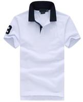 Mode pour hommes T-shirt décontracté coton Polo Ralph T-shirt broderie grand cheval à manches courtes d'été Loisirs Sport Printemps Polos T-shirt solide