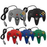 5 renk mat kolu kolu denetleyicisi nintendo oyunları için uzun beri 64 N64 oyunları konsol kablo sistemi
