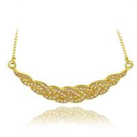 Лучший подарочный корабль типа 18K Золотая тарелка Ювелирные изделия Ожерелье Подходит для женщин GGN759, желтый позолоченный белый драгоценный камень кулон ожерелья с цепями