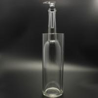 Construcción totalmente de vidrio Los bongs de gravedad Gravitron vienen con un tazón deslizante de vidrio Tubo de agua de vidrio de 13 pulgadas No se pierde humo