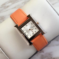 Luxury Brand Women Watches Red Leather Rose Gold Ladies Fash...