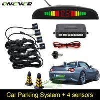 Capteur de stationnement automatique de voiture Parktronic LED avec 4 capteurs inverser la sauvegarde de voiture moniteur de radar moniteur système de rétroéclairage affichage