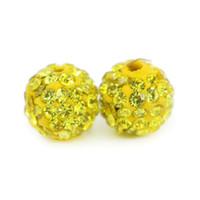 Nuovo arrivo Colorful Polymer Clay Pavimenta Shamballa Disco Ball perline per fare gioielli 100 pezzi / borsa